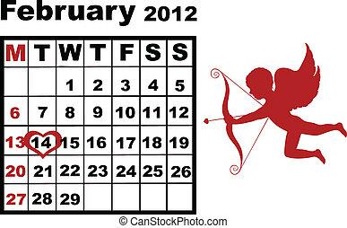 fevereiro, calendário, 2012