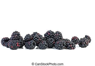 Few blackberries