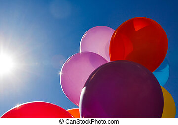 Few colorful baloons