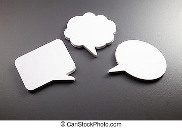 speech bubble - few speech bubble on the gray background
