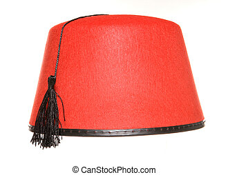 Fez hat on a white background