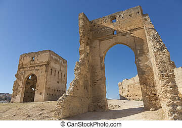 Fez - Merinid ruins of tombs in Fez, Morocco