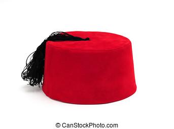 fez - red fez on white
