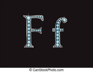 Ff Aquamarine Jeweled Font Jeweled