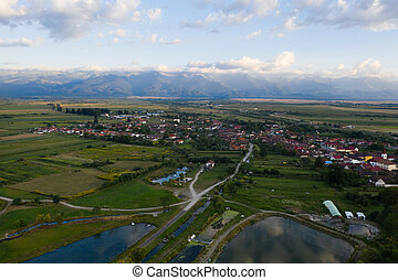 fgaras, carta, village, romania., montagnes