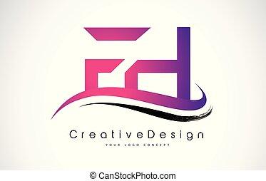 Fh F H Pink Vintage Retro Letter Company Logo Icon Design