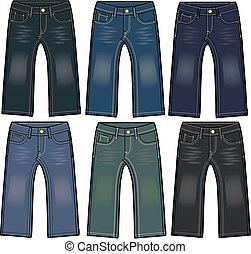 fiú, cajgvászon jeans