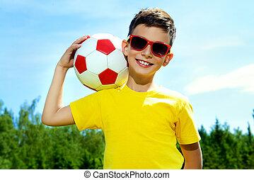 fiú, futball játékos