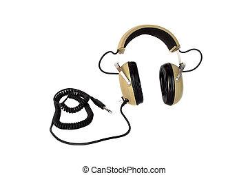 fi, estilo, hola, viejo, auriculares