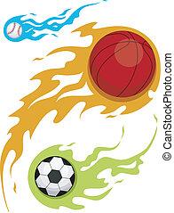 fiamma, palle, disegno
