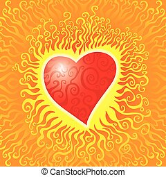 fiamme, cuore