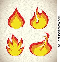 fiamme, icona