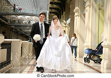 fiance with the bride they go on the passage