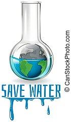 fiasco, acqua, tema, risparmiare, terra