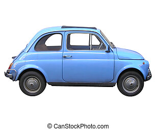 Fiat 500 car - A picture of Fiat 500 sixties Italian car