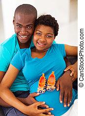 fiatal, african american, szülők, fordíts, lenni