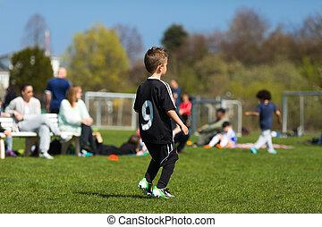 fiatal, futball játékos