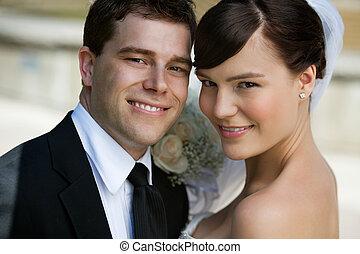 fiatal, házaspár