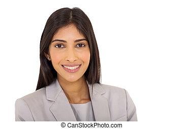 fiatal, indiai, nő