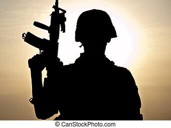 fiatal, katona