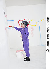 fiatal lány, festmény