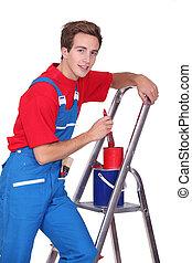 fiatal, szobafestő