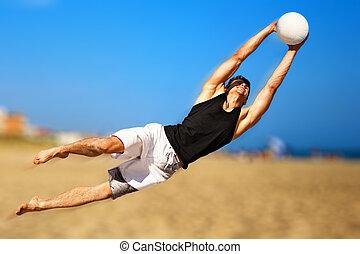 fiatalember, játék futball