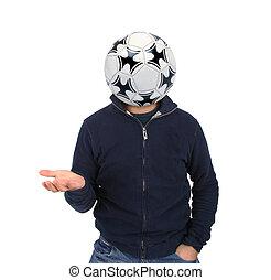 fiatalember, noha, egy, focilabda, instead, közül, fő