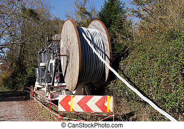 Fiber optic cable for fast internet