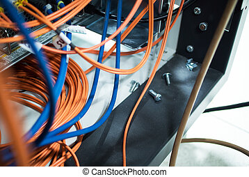 Fiber Optic Cable Network is another. Capable of receiving - transmitting distance in kilometers and with very little loss of signal