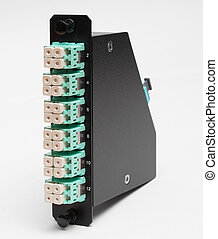 Fiber optic casette with LC connectors - Fiber optic casette...