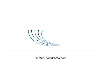 Fiber optic logo, art video illustration.