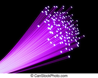 fiber optic - 3d rendered illustration of many fiber optic...