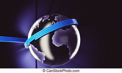 Fiber optic world - High quality 3d render of a fiber optic...