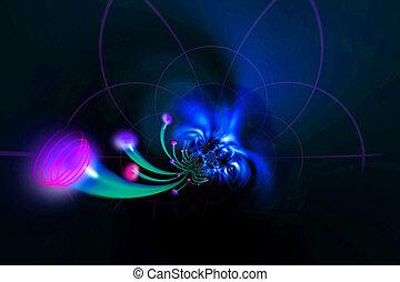 fiber optics Cables - media network illustrated in 3D...