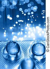 fiber optics, grafické pozadí, s, mnoho, k spadnout,...