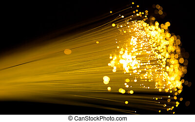 fiber optics - yellow fiber optics cable close up shot