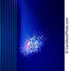 fiber, optisk, abstrakt, bakgrund,  Internet, teknologi