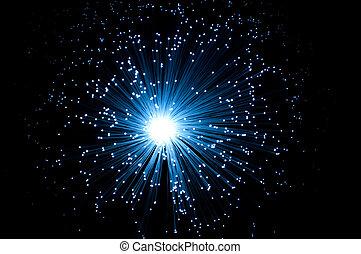 fiber optiska, burst.