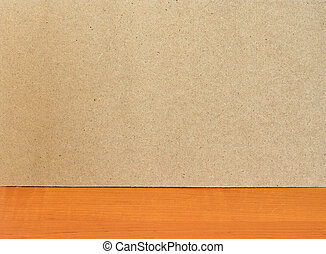 Fiberboard texture pattern on wooden surface. Rough side of...