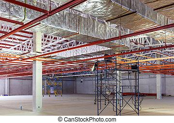 Fiberglass for new factory construction