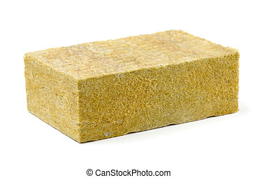 Fiberglass insulation - Piece of yellow fiberglass ...