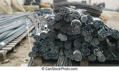 Fiberglass kernels in rods - ready production in plant,...