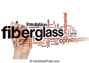 Fiberglass word cloud concept