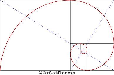 fibonacci golden ratio for design harmony, vector