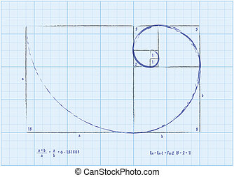 Fibonacci Sequence - Golden Spiral Sketch - The Fibonacci...