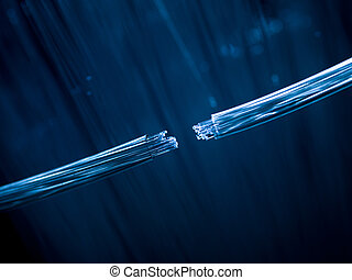 fibra óptica, cables, de conexión