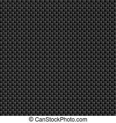 fibra, folha, padrão, carbono, tileable, tecer