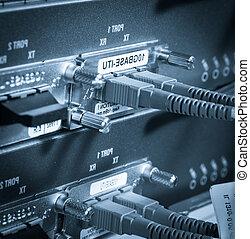 fibra, servidor, red