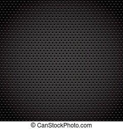 fibre, arrière-plan noir, texture, carbone